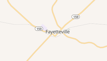 Fayetteville, Texas map