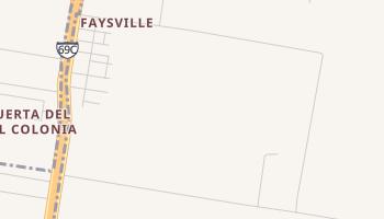 Faysville, Texas map