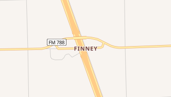 Finney, Texas map