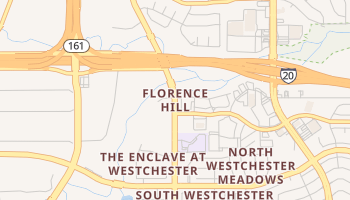 Florence Hill, Texas map