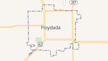 Floydada, Texas map