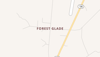 Forest Glade, Texas map