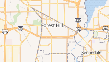 Forest Hill, Texas map