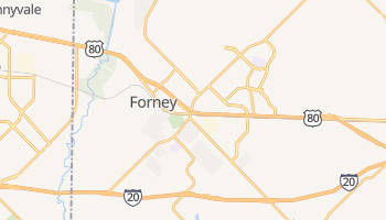 Forney, Texas map