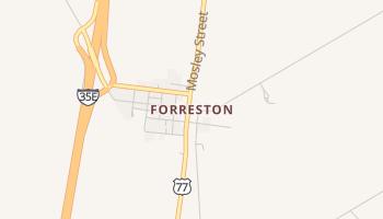 Forreston, Texas map