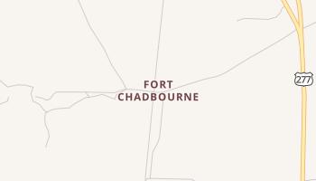 Fort Chadbourne, Texas map
