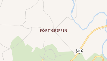 Fort Griffin, Texas map