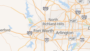 Fort Worth, Texas map