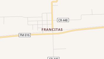 Francitas, Texas map