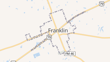Franklin, Texas map