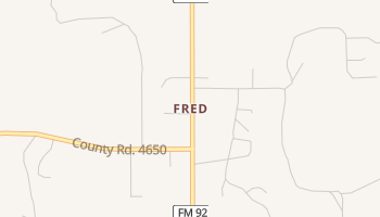 Fred, Texas map