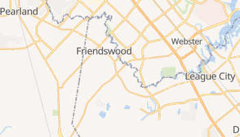 Friendswood, Texas map