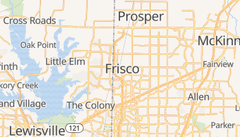 Frisco, Texas map