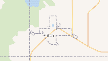 Fritch, Texas map