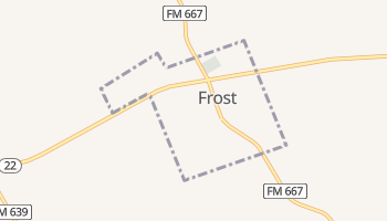 Frost, Texas map