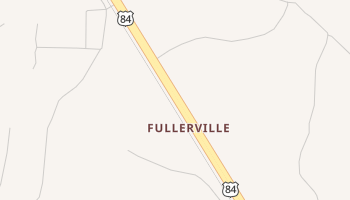 Fullerville, Texas map