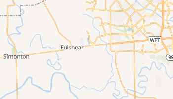 Fulshear, Texas map