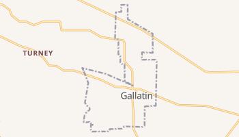 Gallatin, Texas map