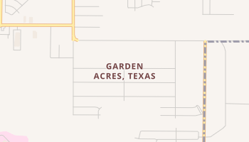 Garden Acres, Texas map