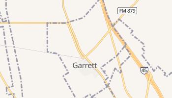 Garrett, Texas map