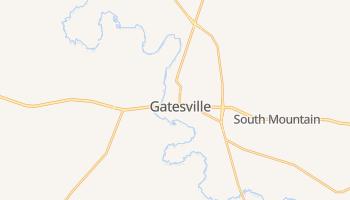 Gatesville, Texas map