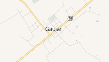 Gause, Texas map