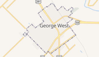 George West, Texas map