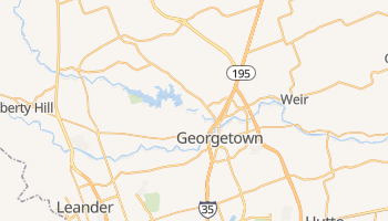Georgetown, Texas map