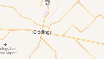 Giddings, Texas map