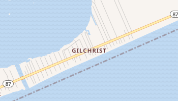 Gilchrist, Texas map