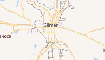 Gilmer, Texas map