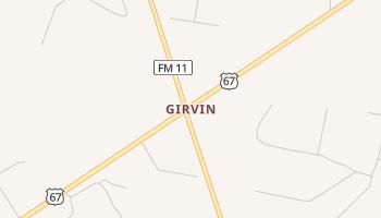 Girvin, Texas map