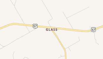 Glass, Texas map