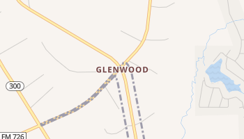 Glenwood, Texas map