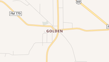 Golden, Texas map