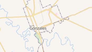 Gonzales, Texas map