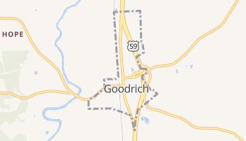 Goodrich, Texas map