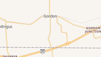 Gordon, Texas map
