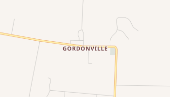 Gordonville, Texas map