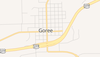 Goree, Texas map