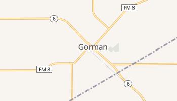 Gorman, Texas map