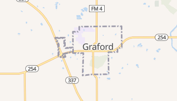 Graford, Texas map