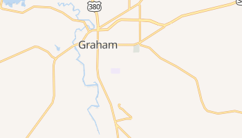 Graham, Texas map
