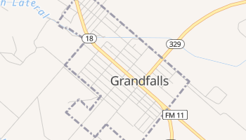 Grandfalls, Texas map