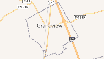 Grandview, Texas map