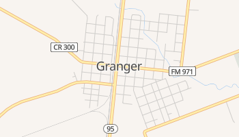 Granger, Texas map