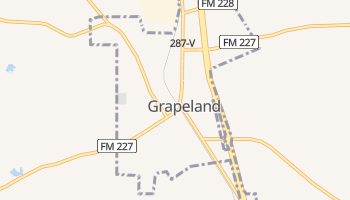 Grapeland, Texas map