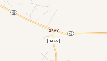Gray, Texas map
