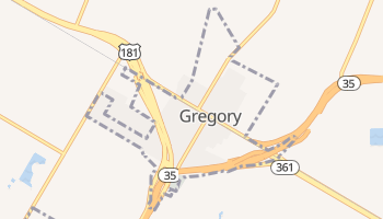 Gregory, Texas map