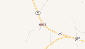 Grit, Texas map